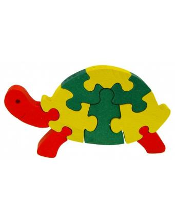 Puzzle Schildkröte aus Holz