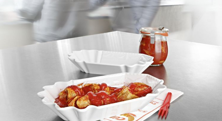 KURLAND Currywurst Porcellain Plate by KPM