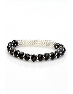 Crystal Elastische Braid Bangle Armband