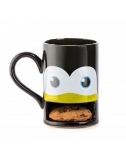 Pinguin Tasse mit integriertem Keksfach