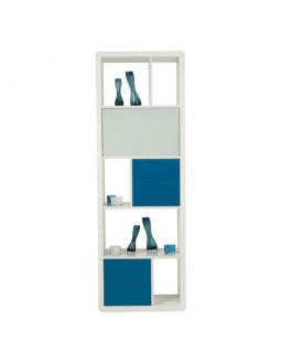 Furniture: classy shelf in white and blue