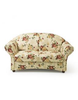 Wohnen: Zweisitzer Sofa im Retrolook