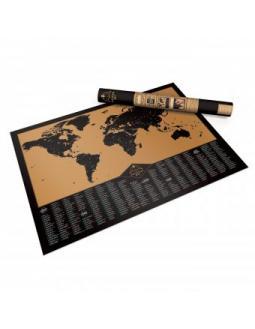 Adventure Map Weltkarte zum Freirubbeln