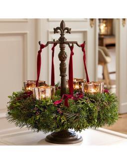 Advent wreath attachment