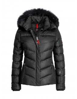 Sporty ski down feather jacket in black by Bogner