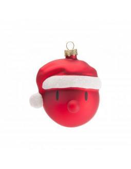 Baum-Deko: Weihnachtsmann Kugeln