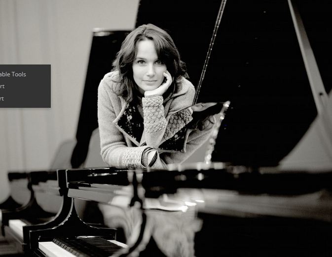 Hélène Grimaud, die jüngste Klavierstudentin
