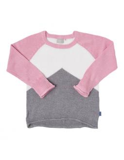 Name it Pullover in pink und grau