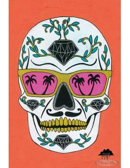 The Diamond Sugar Skull Poster by Schubert