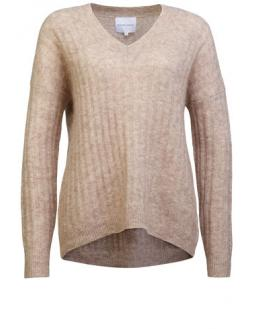 Kuschliger Pullover in Beige by Secound Female