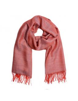 Fluffy alpaca scarf in pink by Mitos