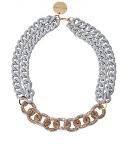 Halskette in mattem Steingrau by Vanessa Baroni