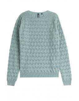 Woolrich Pleated Cashmere Pullover Mint Grün