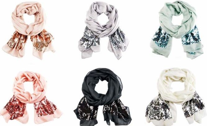 Sequin Scarves by Manou Lenz