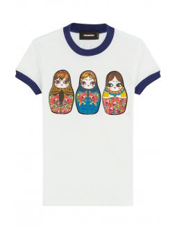 Matryoshka print shirt by Dsquared2
