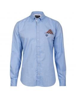 Menswear: stylish shirt in blue