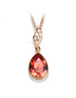 Halskette im feurigen Rot - Swarovski® Kristall