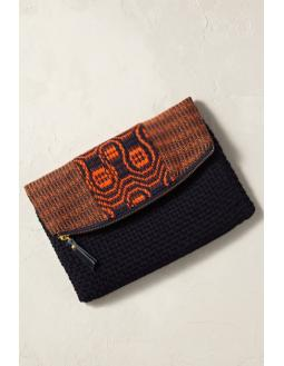 Mindoro clutch with handling in red