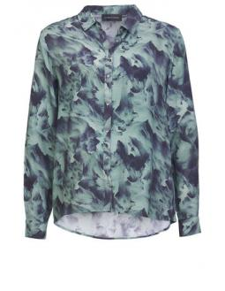 Transparent allover print blouse