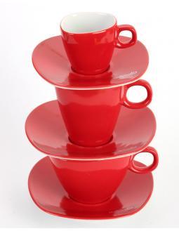 Alfredo Serie - Kaffeetassen Rot