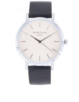 The Gramercy White Silver Uhr by Rosefield
