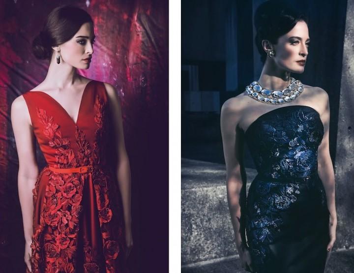 Elegant in Lena Hoscheks femininen Kleidern