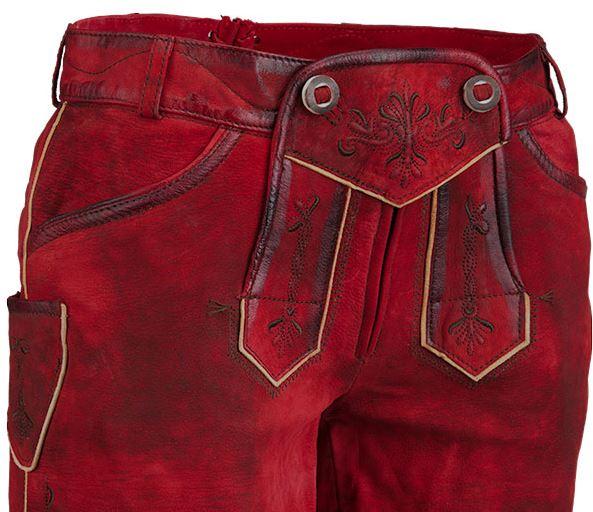 Trend: Trachten-Lederhosen in Rot