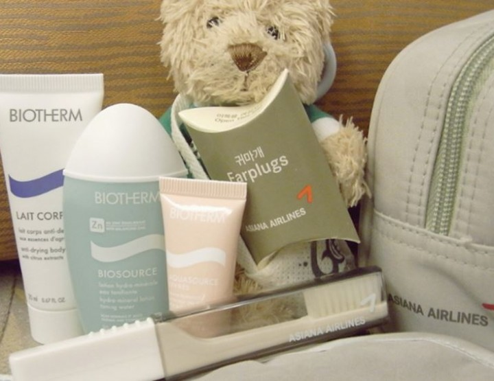 Luxury personal care kits by Quantas, Emirates & Co.