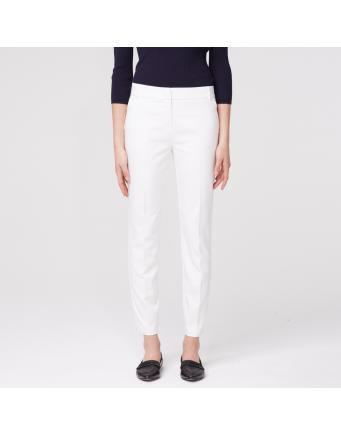 Hose mit seitlichen Schlitzen - weiß