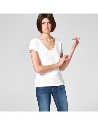 Shirt aus Flammé-Garn - offwhite