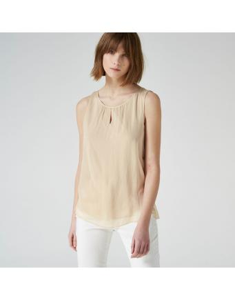 silk top with slit