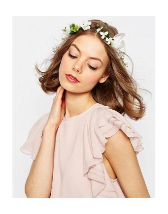 ASOS WEDDING - hair garland with white flowers