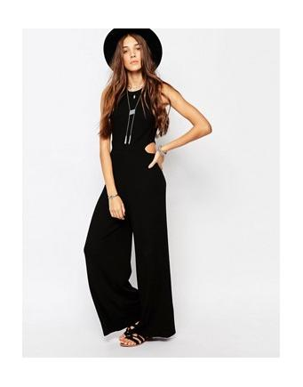 Pull&Bear - Overall with sideway cutouts - Schwarz