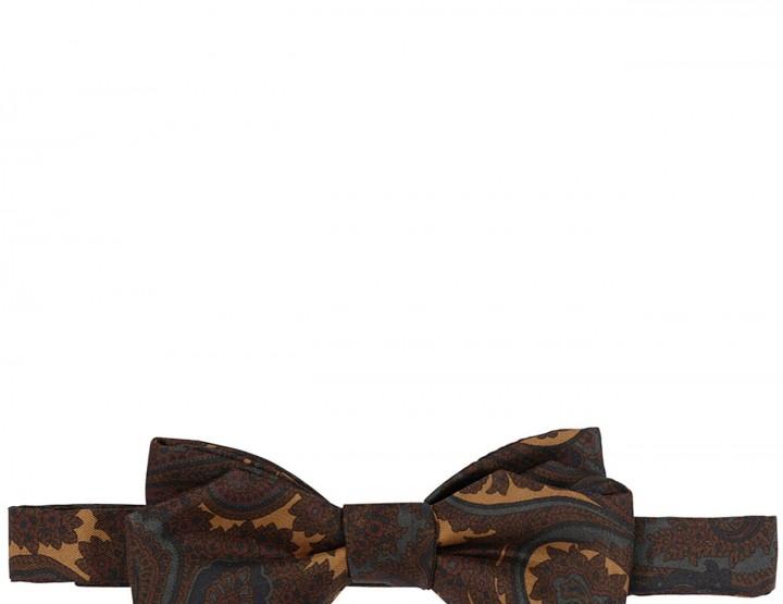Paisley-Durck silk tie - brown-ochre