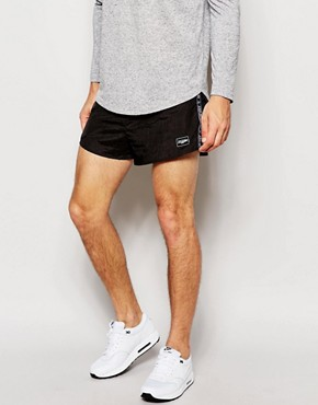 Jaded London - Shorts mit Borte - Schwarz