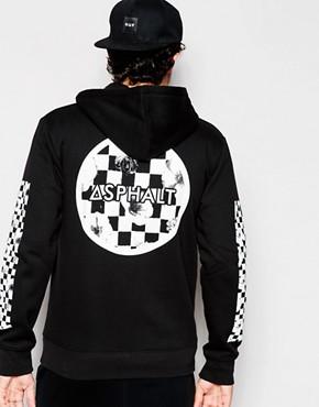 Asphalt Yacht Club - Kapuzenjacke mit Print auf Rücken und Ärmeln - Schwarz