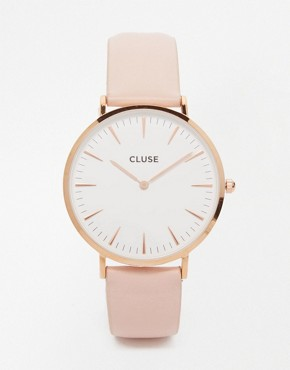 Cluse La Boheme - CL18014 - Leather-wristwatch - pink