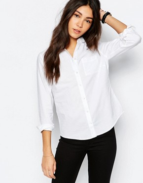 Jack Wills -  Classic fit Oxford-shirt with rounded collar - white