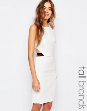 Vero Moda Tall - Kleid mit Reißverschluss hinten - Weiß