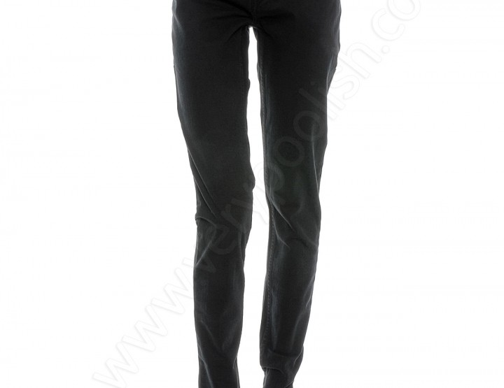 Stone Washed Quadrangle Karottenjeans - schwarz