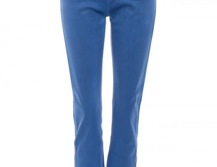Gewachste Slim Fit Jeans - azurblau