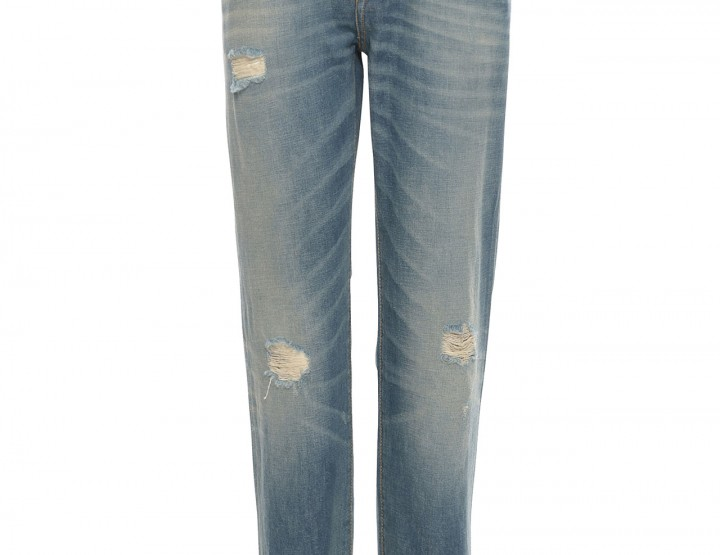 Distressed Boyfriend Jeans - blau