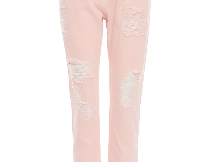 Destroyed Boyfriend-Jeans Bruna - rosa