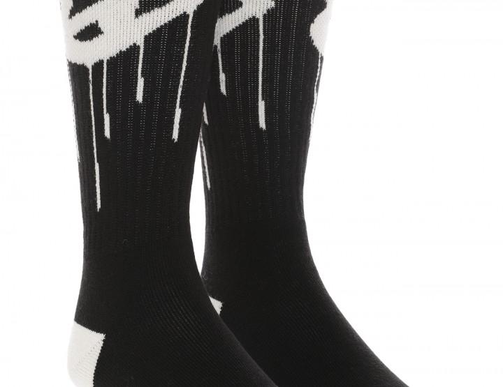 Warme Stricksocken Peace - schwarz/weiß