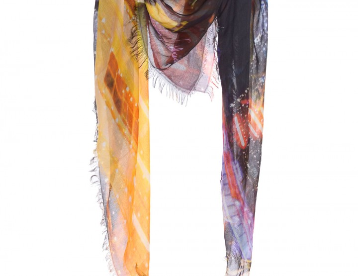 Multicolor scarf Light on S by Natascha Ochsenknecht