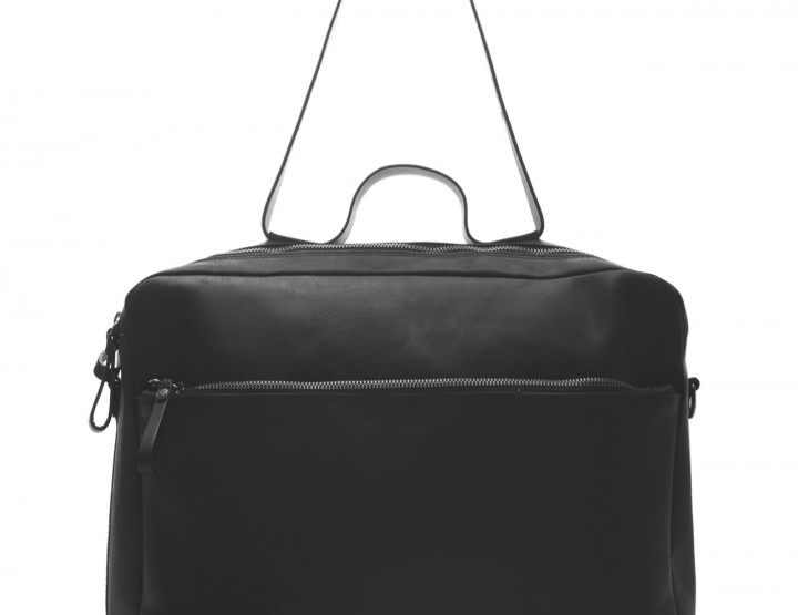 Messenger leather bag - black