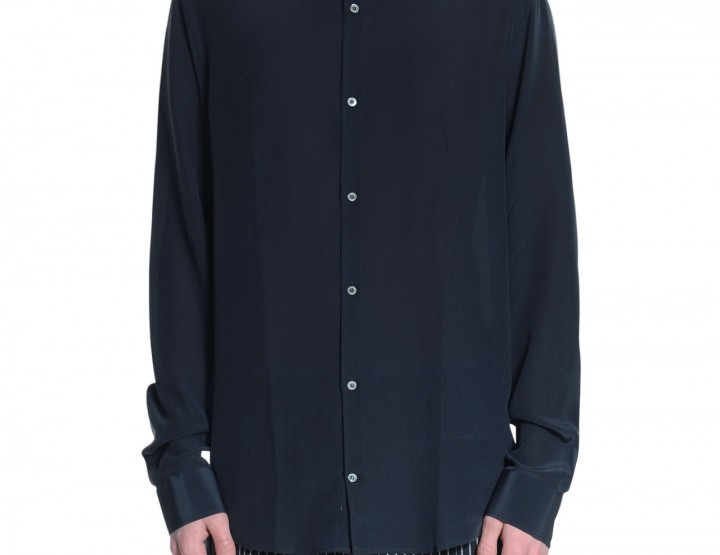 Silk shirt - midnightblue