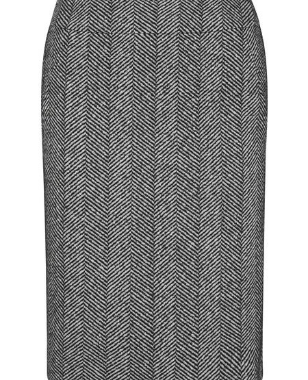 Etui-Rock aus Fischgrat-Jersey