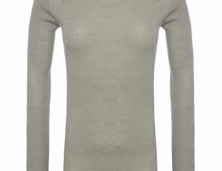 Long cashmere turtleneck sweater - grey