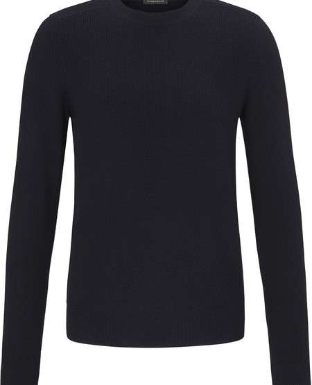 Casual pure new wool round-neck pullover